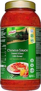 Knorr Chinesische Sauce süß-sauer (pikante Sauce mit Gemüsestücken) 1er Pack (1 x 2,25 L)