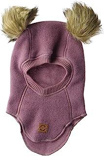 MIKK-Line - 麦尔登男宝宝羊毛全脸巴拉克拉法帽/滑雪面具,带绒球细节