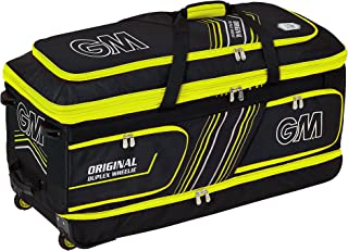 Gunn & Moore Original 双面 GM 东方双面 Wheelie 板球包,黑色 - 黄色