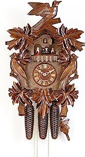 德国卡车时钟 8 天机芯雕刻风格 20.00 英寸 - Hekas 正品黑色森林汽缸钟