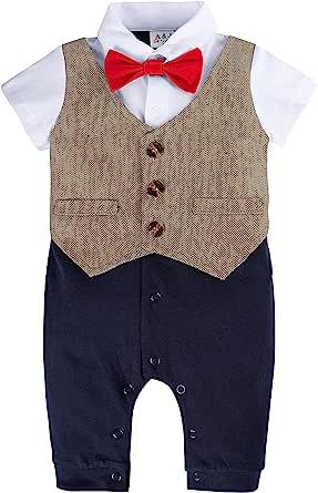 A&J DESIGN Baby 男孩 Gentleman 燕尾服连衫裤带领结