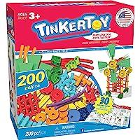 Tinkertoy 30 个模型,200 个零件的超级搭建玩具套装