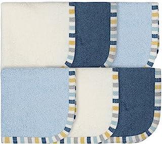 Gerber 婴儿男孩 6 件装毛巾,恐龙蓝色,均码