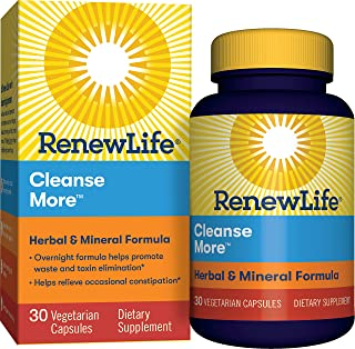 Renew Life Cleanse More 草本矿物质成分-不含麸质,乳制品和大豆- 30粒素食胶囊(新老包装随机发货)
