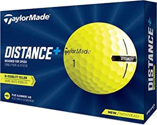 TaylorMade 泰勒梅 Unisex's Distance+ 黄色高尔夫球,均码