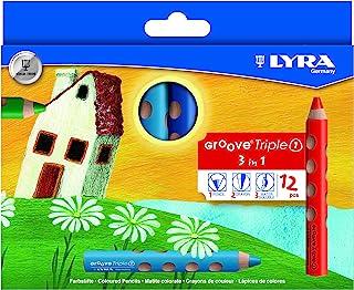 Lyra Groove 铅笔和铅笔刀 Case with 12 Units 多色
