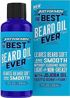 Just For Men *佳胡须油,支持生长,由维生素 E、桉树、迷迭香和荷荷巴油制成,抚平和软化毛孔,而不会堵塞毛孔,1 液体盎司