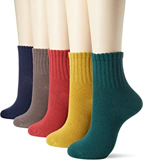 CECILE 短袜 女士 袜口宽松 5双装 材质耐用 不易掉跟脱落 SP-38