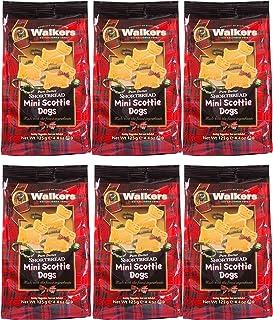 Walkers Shortbread 迷你苏格兰小狗酥饼,4.4盎司/125克(6袋装)