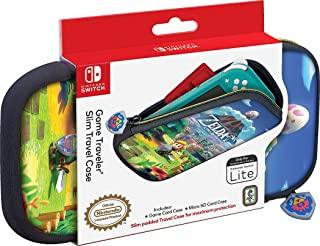 """官方*任天堂 Switch Lite 手提包 - 超薄旅行硬壳保护套 - 可调节观看支架 - 塞尔达传奇""""Link's Awakening""""艺术游戏外壳"""