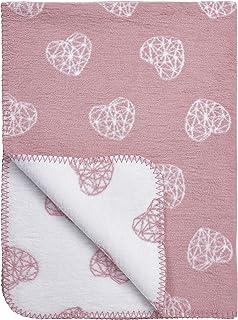 "Meyco 1531023 婴儿毯/毛绒毯""GEOMETRIC HEART"" 75x100 厘米,粉色"