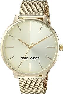 Nine West 女士 NW/1981 Sunray 表盘网眼手链手表