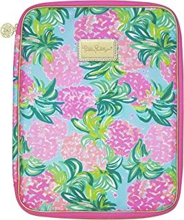 Lilly Pulitzer 议程对开式带内袋和拉链闭合,旅行组合尺寸适合所有Lilly 个人规划师,菠萝奶昔