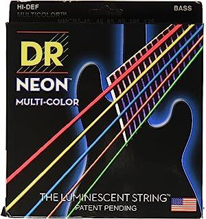 DR Strings NMCB5-45 DR NEON 5 低音吉他弦,中号,多色