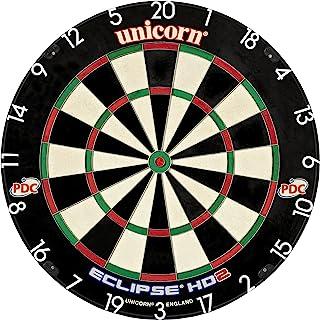 Unicorn Eclipse HD2 高清晰度专业鬃毛飞镖靶,增加玩耍区和超薄的靶眼