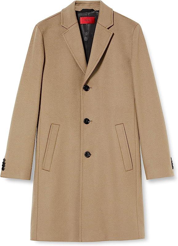 HUGO Hugo Boss 雨果·博斯 Malte2041 男式羊毛混纺大衣 50435601 ¥1350.1