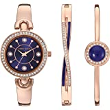 Anne Klein Women's Swarovski Crystal Accented Watch and Brac…