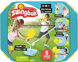 Swingball 5 合 1 套装户外游戏 - 包括摇球牙胶、排球、足球、飞盘和尾球