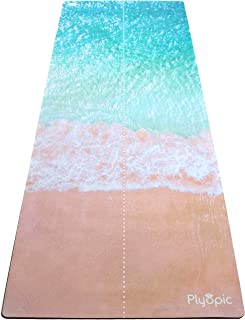 Plyopic 一体式瑜伽垫 – 奢华吸汗垫/毛巾组合 – 环保天然橡胶 – 适合瑜伽、普拉提、锻炼、健身、生物牛皮和热瑜伽