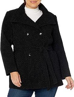 Calvin Klein 女式加大码双排扣羊毛大衣