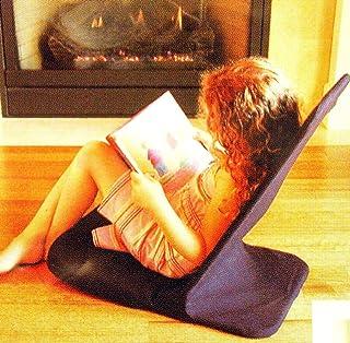 便携式地板椅,MEMORY FOAM 座椅,折叠椅。 Angle Back-Rest。 35.56 cm 宽 x 55.88 cm 高 x 53.34 cm 深(黑色)