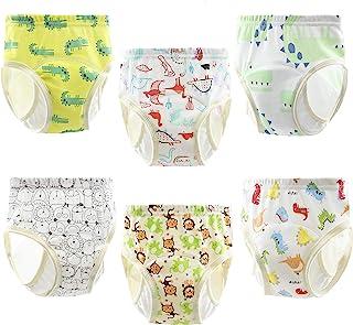 PandaEar (6 件装)中性款婴儿棉质训练裤 | 吸水便盆尿裤内衣训练(颜色 A,36-48 个月)
