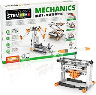 Engino Discovering STEM 机械齿轮和蜗杆传动 12 种工作模型 – 图解说明手册 – 理论与事实 – 实验活动 – STEM 构造套件