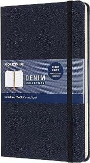 Moleskine LCDNB1QP060 大号牛仔横格笔记本 - 普鲁士蓝