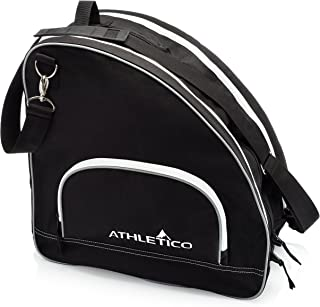 Athletico 冰和内嵌滑冰袋 - 优质袋子可携带冰鞋、滚冰鞋、直排滑冰鞋、儿童和成人款