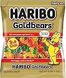 Haribo 哈瑞宝 Gummi Candy, Goldbears 软糖糖果, 40盎司(1360g)(4件装)