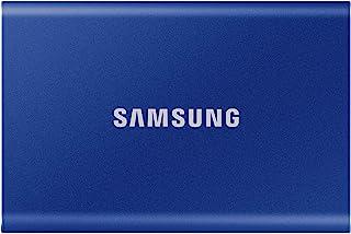 Samsung 三星 T7 便携式固态硬盘 – 2 TB – USB 3.2 Gen.2 外置固态硬盘 靛蓝(MU-PC2T0H/WW)