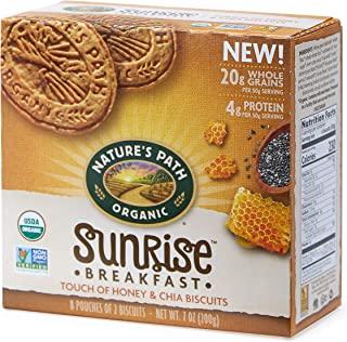 Nature's Path Organic Sunrise 早餐饼干,蜂蜜和奇亚籽口味,7盎司(198g) 6盒装
