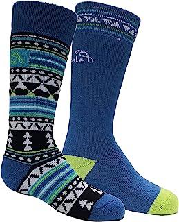 Bridgedale 男孩儿童美利奴滑雪袜 - 2 双装