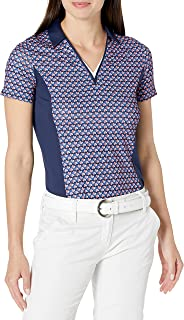 Callaway 女式短袖装饰几何摇摆科技 Polo 衫