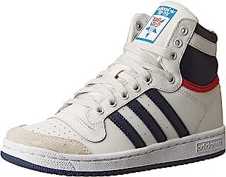 adidas Performance Top Ten Hi J 篮球鞋(大童) Core White/New Navy/Collegiate Red 6 Big Kid