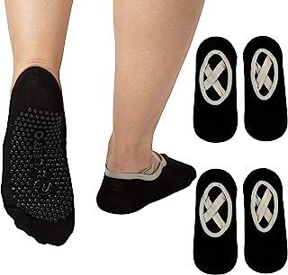女士瑜伽袜防滑袜带防滑袜,适合普拉提、拉杆、舞蹈、*、赤脚锻炼