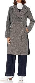Rachel Rachel Roy 女式混合印花人造羊毛长款外套