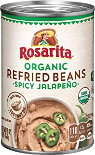 Rosarita Spicy Jalapeno Refried Beans, 16 Oz. (Pack of 12)