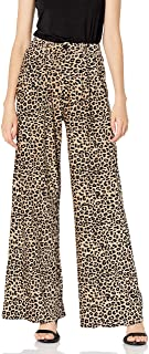 KENDALL + KYLIE Women's HIGH WAISTED FLARE PANT, SAND, L