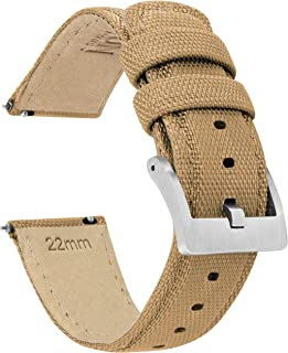 Barton 帆布快拆 - 优质尼龙编织 - 颜色和宽度可选 - 18 毫米、19 毫米、20 毫米、21 毫米、22 毫米、23 毫米、24 毫米