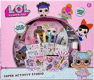 L.O.L. Surprise! *活动套装工作室,Horizon Group USA,素描和创作贴纸和宝石,多色