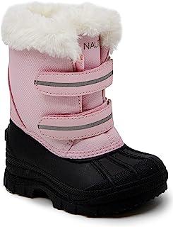 Nautica 诺帝卡 Beasley 女童雪地靴,钩环带防水冬季鞋(幼儿/小童)