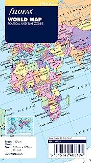 Filofax 系统记事本 替换纸 世界地图 バイブル