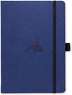 dingbats * 野生动物 A5 + 精装记事本 – PU - 皮革, mikroperf oriert 100 GSM 奶油色页, 衣服, 橡胶表带, 笔支架, 书签 Blanko Blanko Blauwal