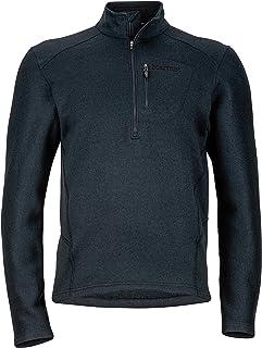 Marmot 土拨鼠 Drop Line 男士1/2拉链套头衫,轻质100的毛衣羊毛外套