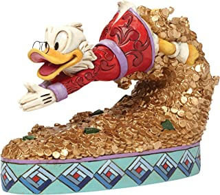 Enesco Jim Shore 迪士尼 宝藏潜水 唐老鸭潜入金币 雕像摆件 4046055