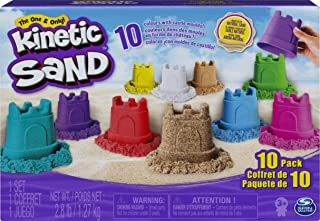 Kinetic Sand 6052995 Castle Containers 10-Colour Pack for Kids Aged 3 and Up, Multicolour