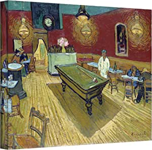 Art Walls The Night Cafe in the Place Lamartine in Arles Gallery Wrapped Canvas by Vincent Van Gogh, 14 by 18-Inch