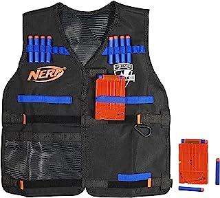 Hasbro 孩之宝 NERF 热火 N-Strike Elite系列 官网战术背心,包括2个六镖夹和12个面向儿童,青少年和成人的Nerf官方飞镖