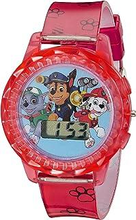 Nickelodeon 儿童 PAW4006 狗狗巡逻队数字显示屏石英红色手表